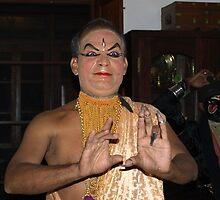 Kathakali Master demonstrating facial expressions by DeborahDinah