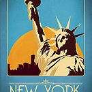 Retro New York Travel Poster by liquidsouldes