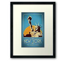 Retro New York Travel Poster Framed Print