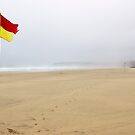 Deserted beach at Gwithian, Cornwall by Robert Down