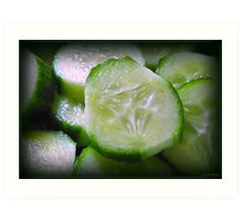 Cucumber Slice Art Print