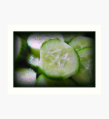 Cucumber Slice Art Print