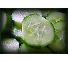 Cucumber Slice Photographic Print