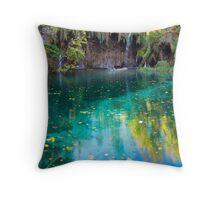 Lake panorama Throw Pillow