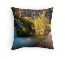 By the waterfalls Throw Pillow