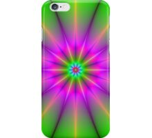 Pink and Green Starburst iPhone Case/Skin