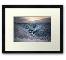 In the winter time Framed Print