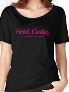 HOTEL CORTEZ Los Angeles California - Neo Noir Women's Relaxed Fit T-Shirt