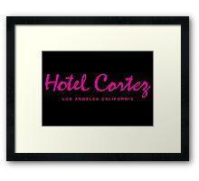 HOTEL CORTEZ Los Angeles California - Neo Noir Framed Print