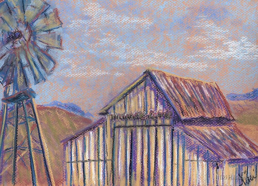 Maurice Car'rie Barn (pastel) by Niki Hilsabeck