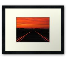 11-11-11........Fire In The Sky Framed Print