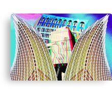 Trippy colorful Atlanta city buildings Canvas Print