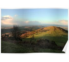 A winters day on the Malvern Hills Poster