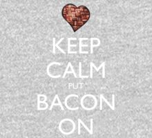 Keep Calm Put Bacon On - Black One Piece - Long Sleeve