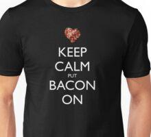 Keep Calm Put Bacon On - Black Unisex T-Shirt