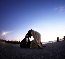 Yoga in the evening by Wari Om  Yoga Photography