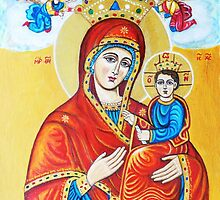 Virgin Mary with the Child Jesus  by ivDAnu