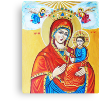 Virgin Mary with the Child Jesus  Canvas Print