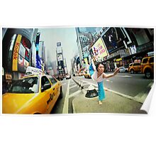 Yoga at Times Square, Manhattan, New York Poster