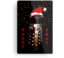 Happy Christmas Dalek Christmas Card Cards Metal Print