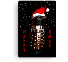 Happy Christmas Dalek Christmas Card Cards Canvas Print