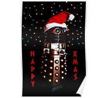 Happy Christmas Dalek Christmas Card Cards Poster