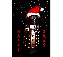 Happy Christmas Dalek Christmas Card Cards Photographic Print