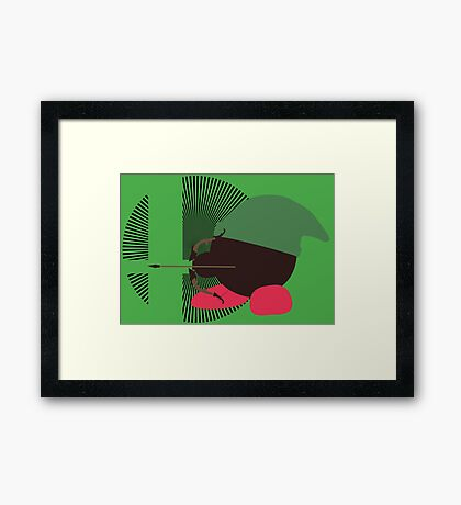 Link (Kirby Hat) - Sunset Shores Framed Print