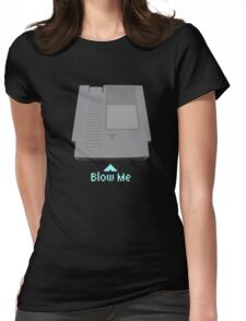 video game blow me Womens Fitted T-Shirt