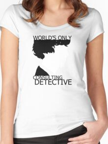 World's Only Consulting Detective Women's Fitted Scoop T-Shirt