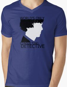 World's Only Consulting Detective Mens V-Neck T-Shirt