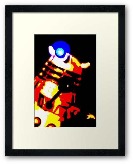 Dalek Pop Art Print Poster or Canvas by ste6475