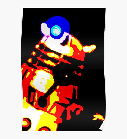 Dalek Pop Art Print Poster or Canvas Poster
