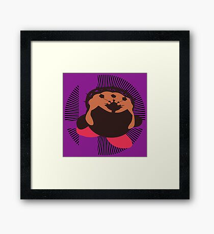 Ganondorf (Kirby Hat) - Sunset Shores Framed Print