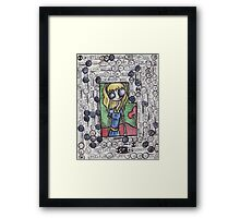 Big Eyed Blue Framed Print
