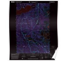 USGS Topo Map Washington State WA Bacon Peak 239892 1999 24000 Inverted Poster