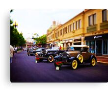 Vintage, Antique Cars on Display, Color Canvas Print