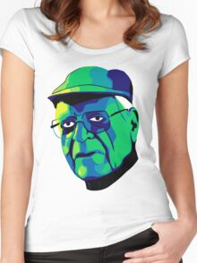 Grandfather Face Women's Fitted Scoop T-Shirt