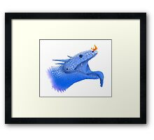 Blue Tongue Dragon Framed Print