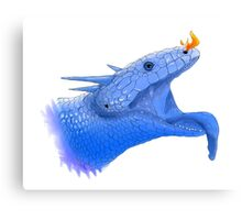 Blue Tongue Dragon Canvas Print