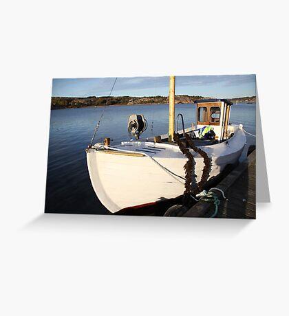 Boat, West Sweden Greeting Card