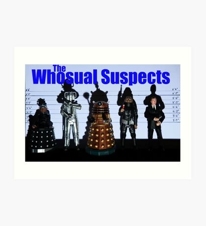 The Whosual Suspects Dr Who Greetings Card Poster Art Print