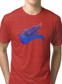 Blue Tongue Dragon Tri-blend T-Shirt
