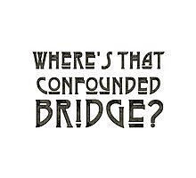 WHERE'S THAT CONFOUNDED BRIDGE? - the storm Photographic Print