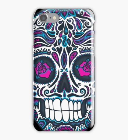 Calavera IV Sugar Skull Neon iPhone Case/Skin