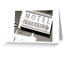Motel Private Greeting Card