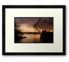 Sunset at the Hidden Lake Framed Print