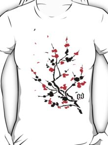CHERRY BLOSSOMS RED T-Shirt