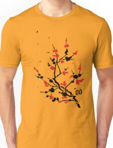 CHERRY BLOSSOMS RED Unisex T-Shirt