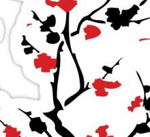 CHERRY BLOSSOMS RED Sticker